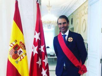 นาดาล รับรางวัลเกียรติยศที่มาดริด ตอบแทนสร้างชื่อให้สเปน