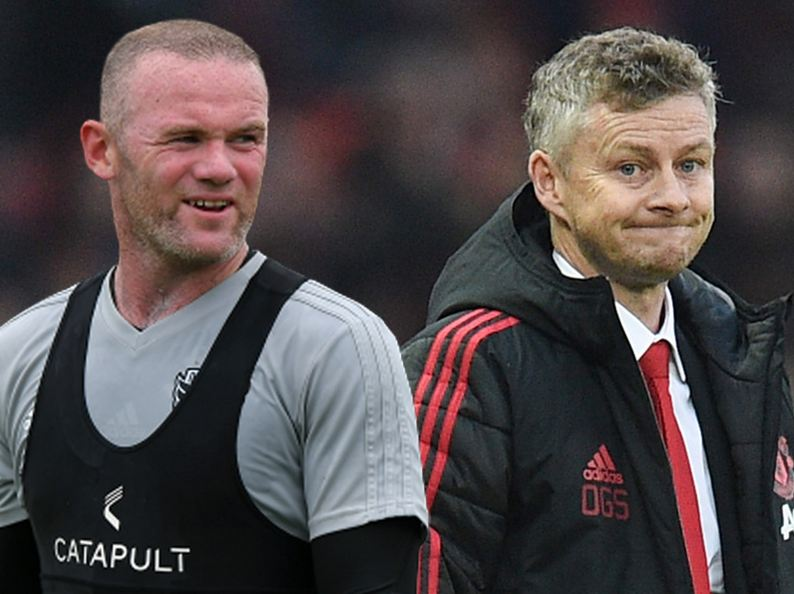 Wayne Rooney and Ole Gunnar Solskjær
